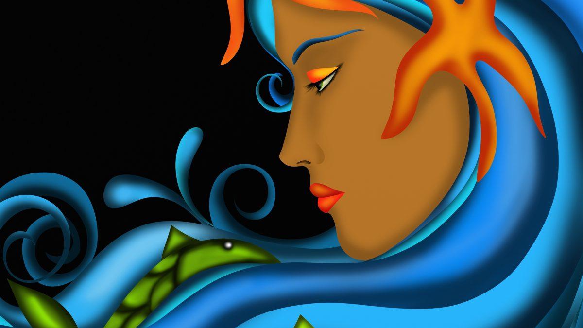 Pisces art woman