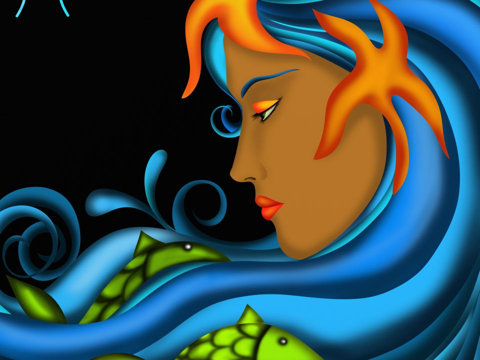 Pisces art woman